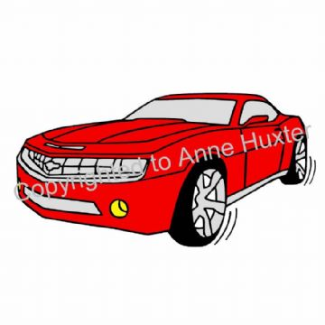 Red Car Decal
